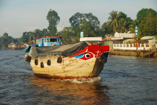 Rice barge on the Mekong Delta