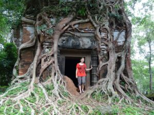 Ruth in Indochina: Ruth at Prasat Pram, Cambodia