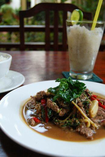 A local dish in Cambodia