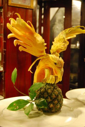 Carved Pineapple in Vietnam
