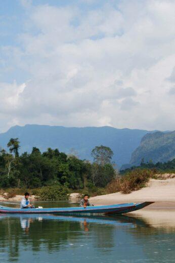 Nam Ou river , Laos