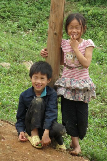 Young children in Sapa