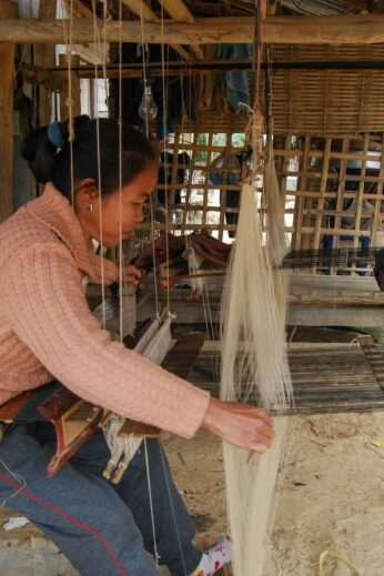Scarf making in Laos