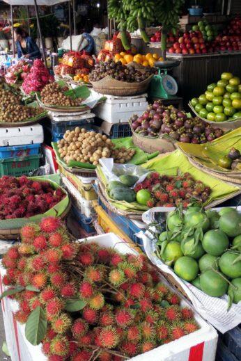 Local morning market in Phnom Penh