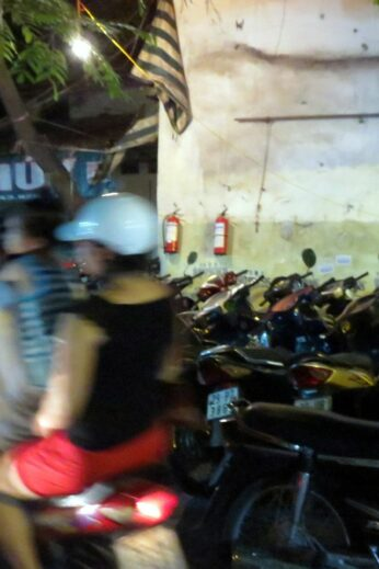 Hanoi hustle & bustle! Can't find a parking spot for your motorbike…?