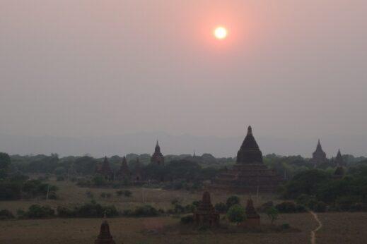 Bagan at dusk - insidevietnam Tours