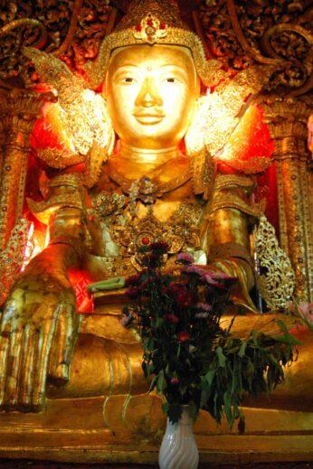 Buddhist temple altar - InsideBurma Tours