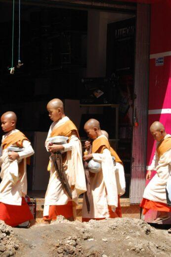 Novice monks in Burma - InsideBurma Tours