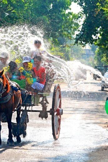 Water-throwing during Thingyan - InsideBurma Tours