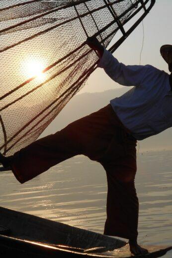 Sunset fishing - InsideBurma Tours