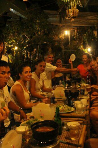 Enjoying hotpot and Vietnamese wraps at bar #4