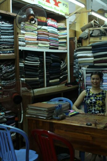 I recently visited this Hoi An tailor for two sets of silk pyjamas, which she knocked together in just an hour!