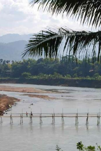 View over the Nam Ou River in northern Laos