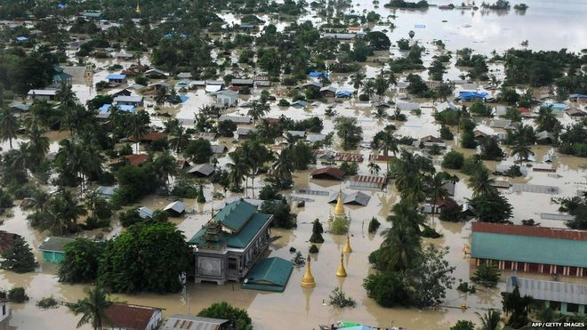 The Sagaing region, one of the worst affected in Burma (photo: BBC News)