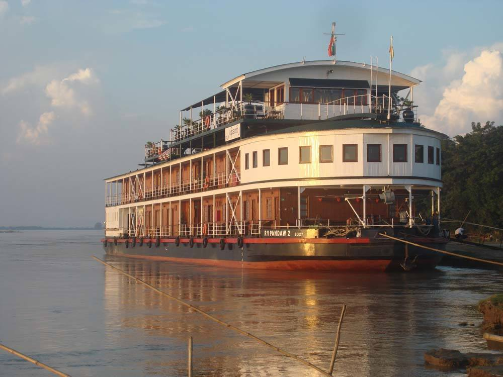 One of the beautiful Pandaw fleet, owned by the original Irrawaddy Flotilla Company