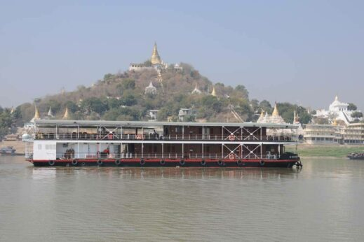 Choose a colonial-style, restored wooden boat for a nostalgic trip along the Irrawaddy
