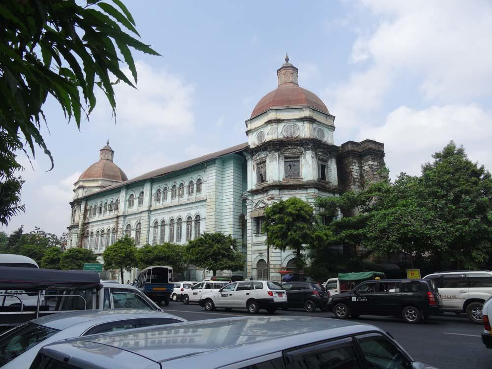 Accountant General's Office, Yangon today.