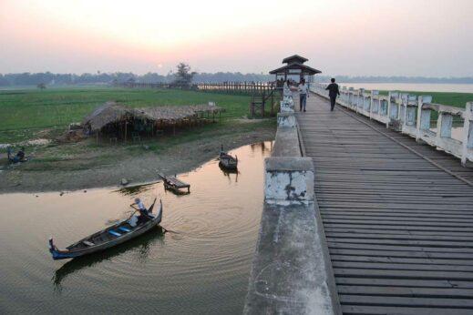 U Bein Bridge near Amarapura is at its most atmospheric at dawn