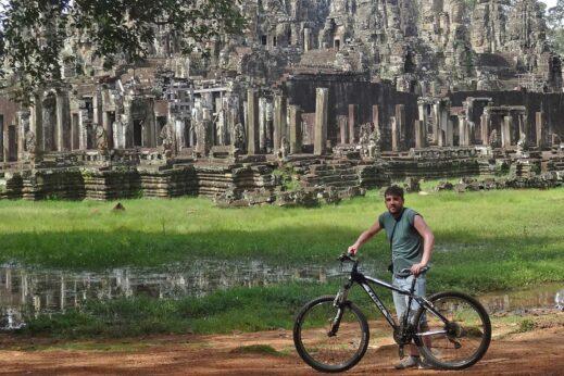 Cycling in Angkor, Cambodia