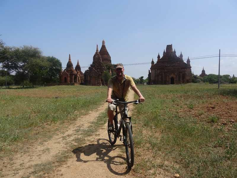 Our James explores the temples of Bagan by bike
