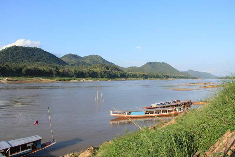 Out on the river near Luang Prabang