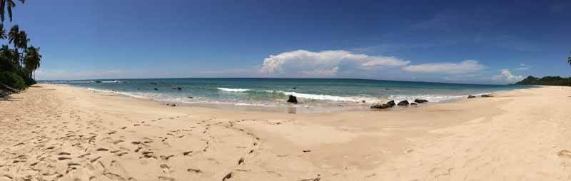 Beautiful Ngapali Beach is often deserted out of season