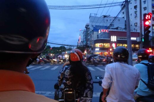 Zip through the traffic on a Vespa tour in Saigon