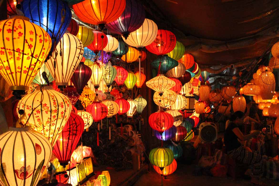 Hoi An is famous for its lanterns. Have a go at making your own at a craft workshop.