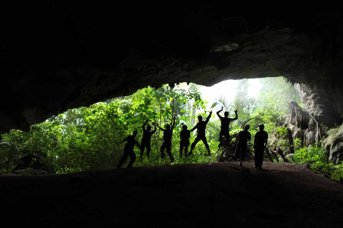 The Cloutman family in Phong Nha National Park