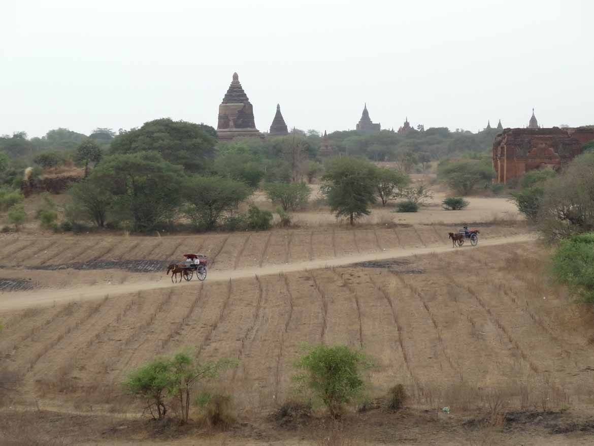 Bagan at the height of the dry season