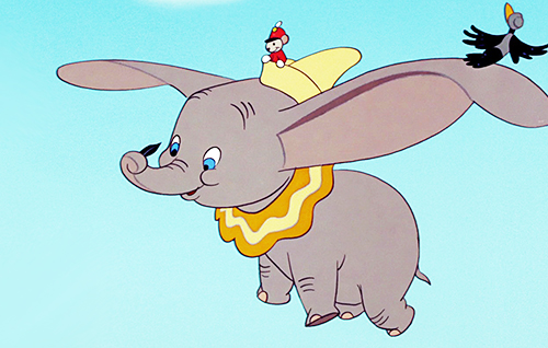 ... but unfortunately (or perhaps fortunately), elephants can't fly.