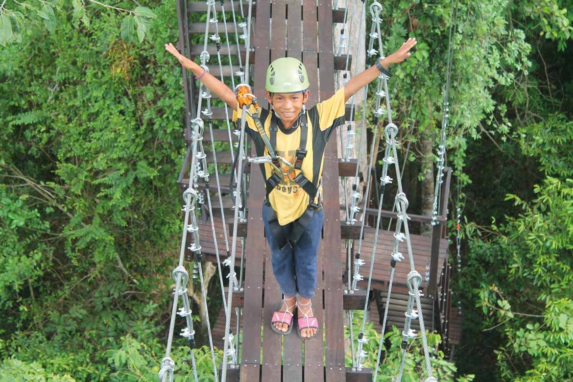 Flight of the Gibbon: just one of the child-friendly activities in Siem Reap