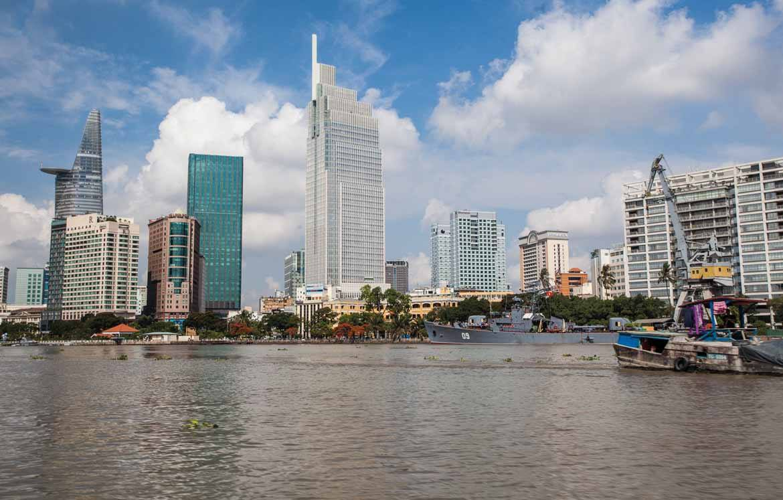 The Saigon skyline (copyright Peter Jackson)