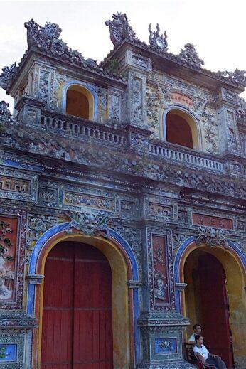 Gateway to Imperial Citadel in Hue, Vietnam