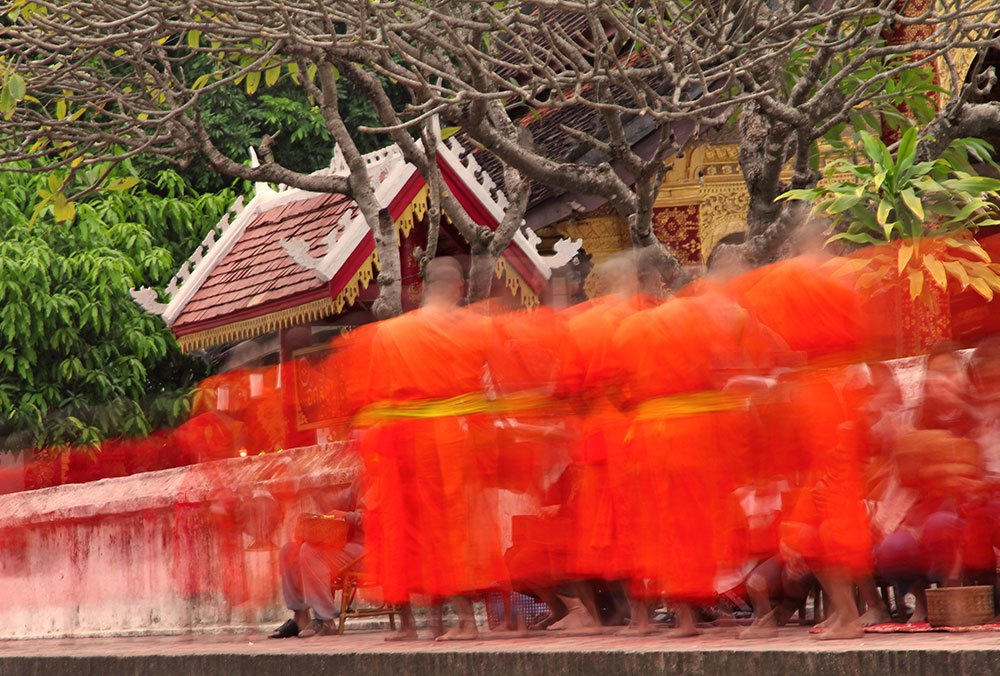 Travel Photography Competition - Collecting alms in Luang Prabang, Laos
