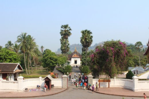 A view of the street in Luang Prabang, Laos