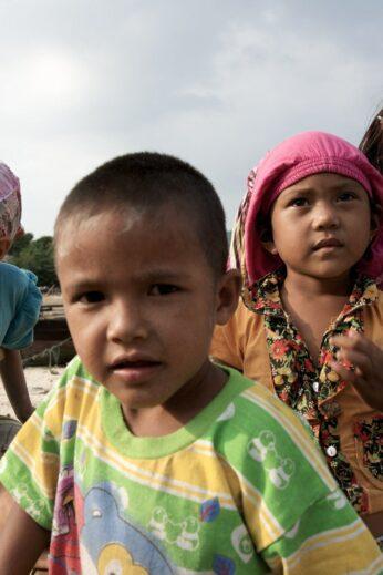 Moken Children on the Myeik Archipelago, Burma (Myanmar)