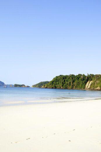 White sandy beach on the Andaman Islands, Burma (Myanmar)