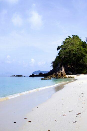 White sand on the Myeik Archipelago islands, Burma (Myanmar)