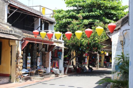 Lanterns strung across the streets of Hoi An