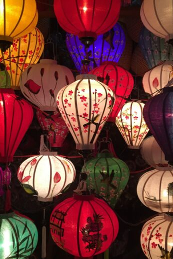 Colourful lanterns in Hoi An, Vietnam