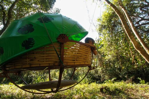 Stay at The Nests camp when hiking in Laos