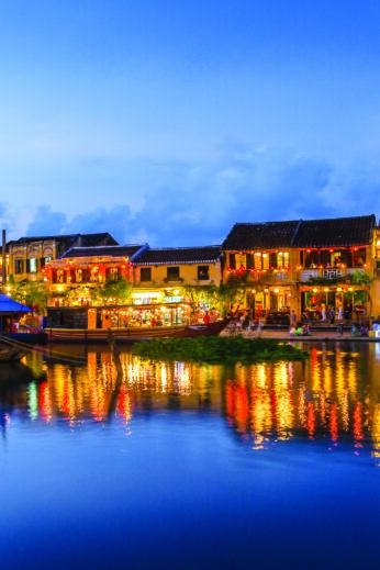 Hoi An Riverside twilight, Vietnam