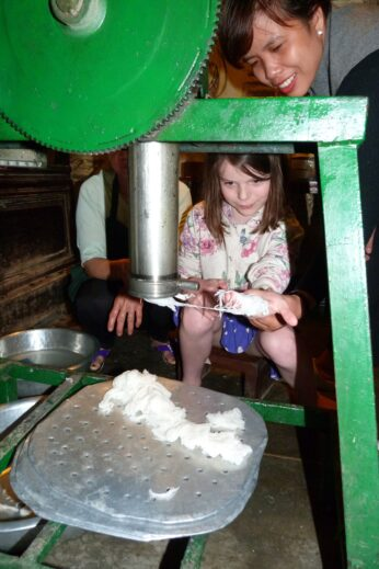 Making noodles in Vietnam
