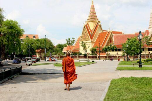 Monk in Phnom Penh