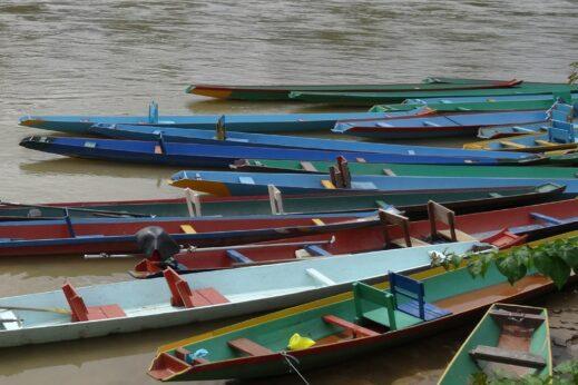 Vientiane, Laos boat racing