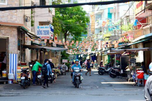 Backstreets and market Ho Chi Minh City Vietnam