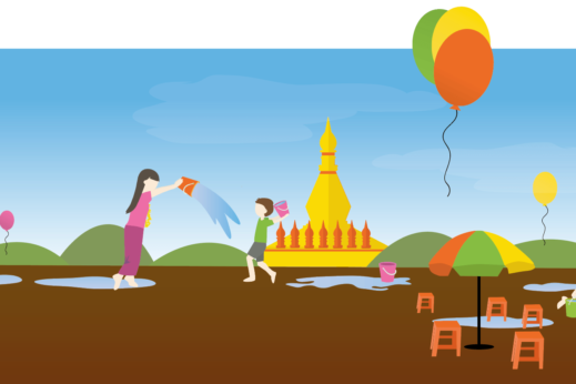 Myanmar (Burma) New Year's Thingyan celebration