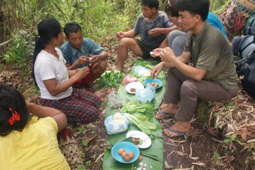 Preparing food, Hiking in Laos: Nam Et-Phou Louey National Protected Area
