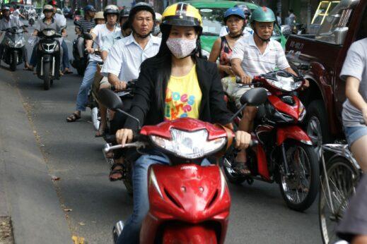Vespas in Ho Chi Minh City